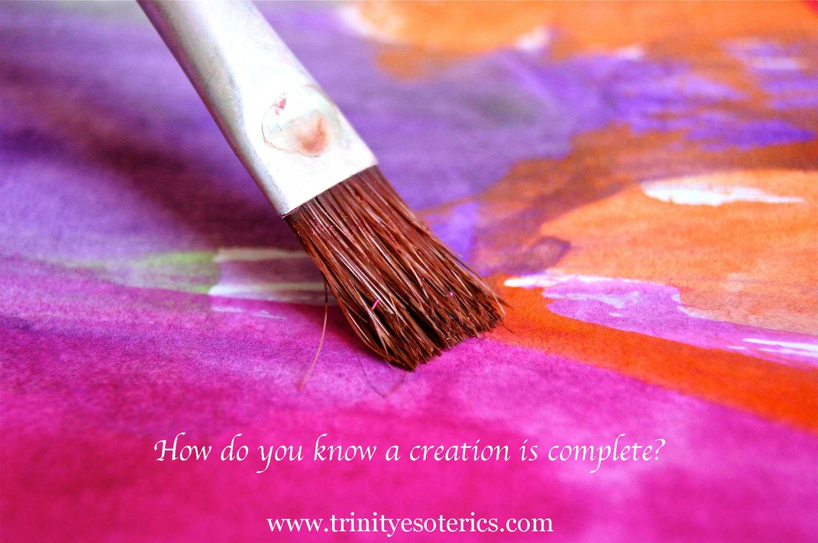 brush painting on canvas trinity esoterics