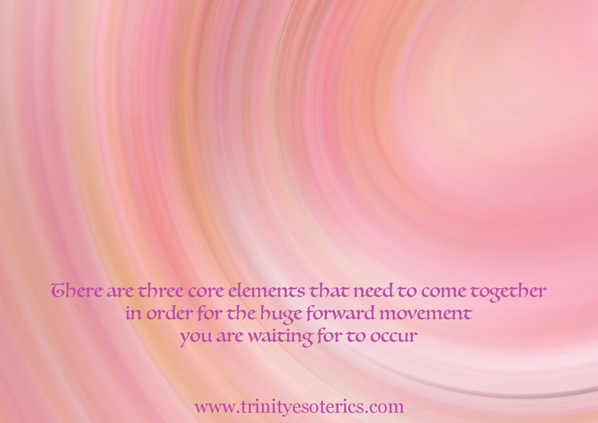 pink and gold abstract wave trinity esoterics