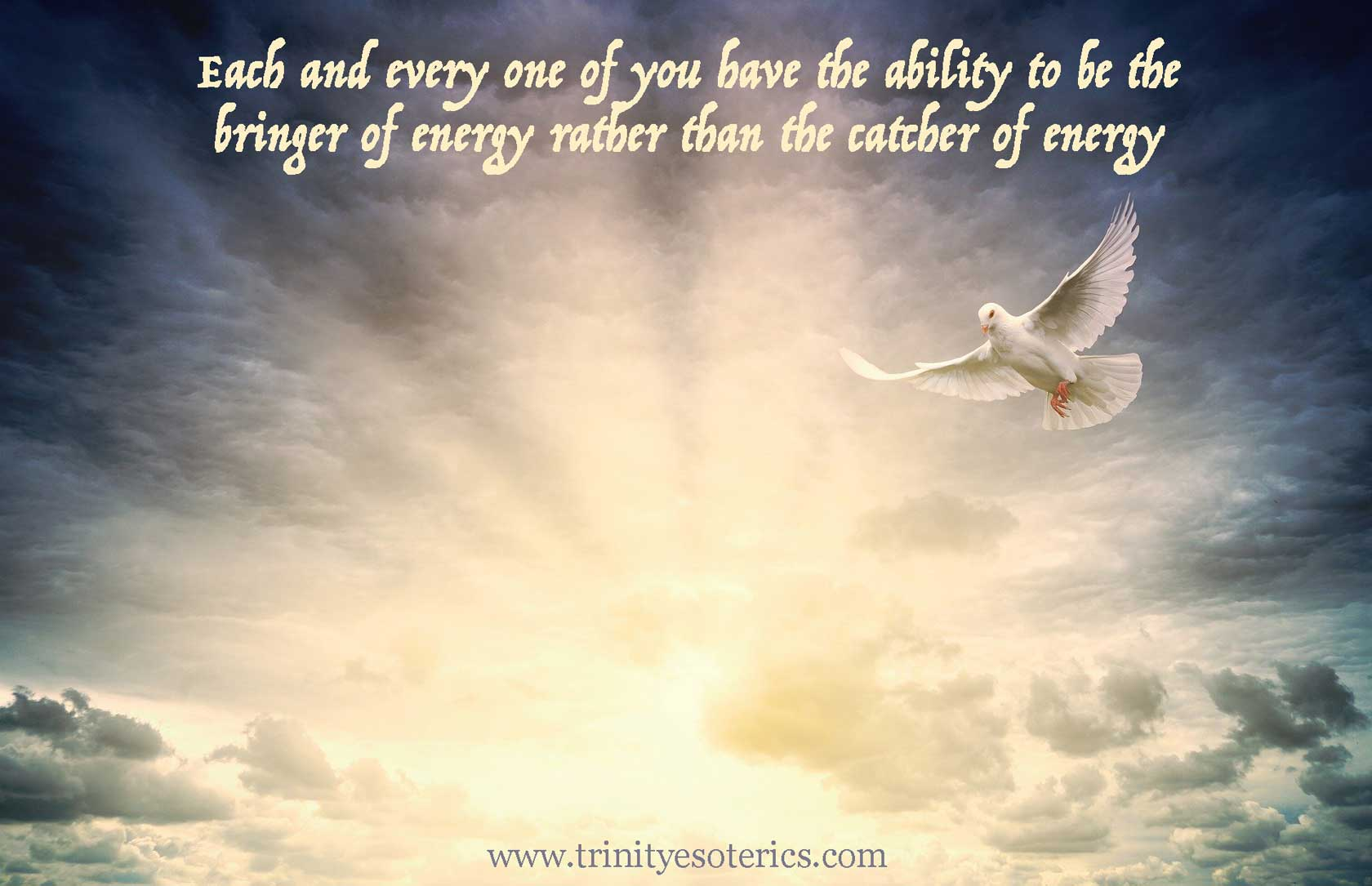 dove of peace trinity esoterics