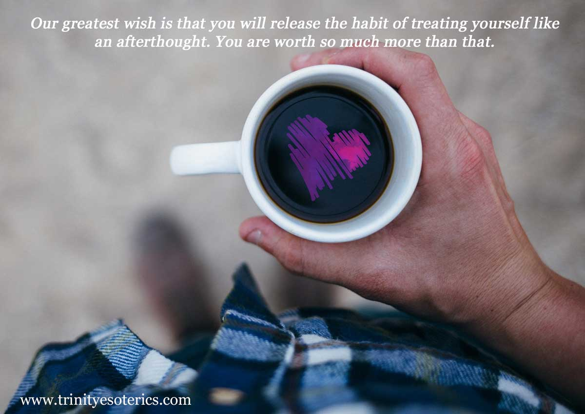person with cup of love trinity esoterics