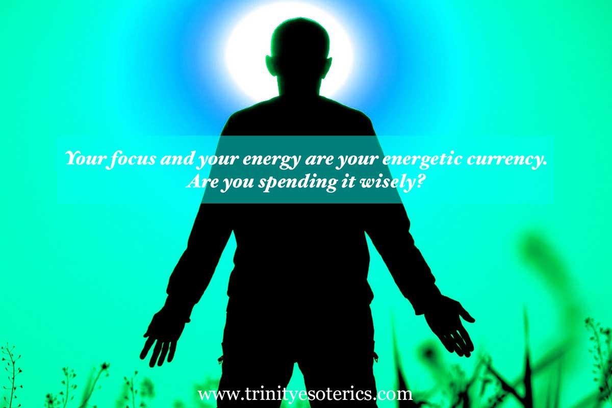 man focused on light trinity esoterics