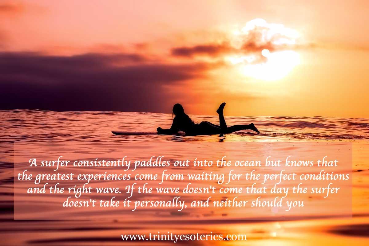 sunset surfer trinity esoterics