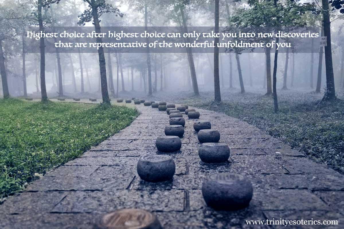 stepping stones on path trinity esoterics