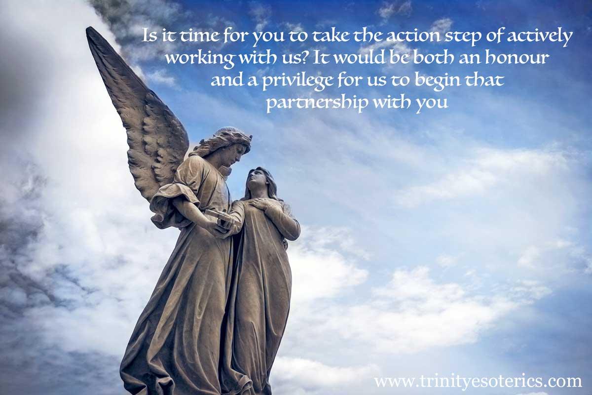 angel holding person trinity esoterics