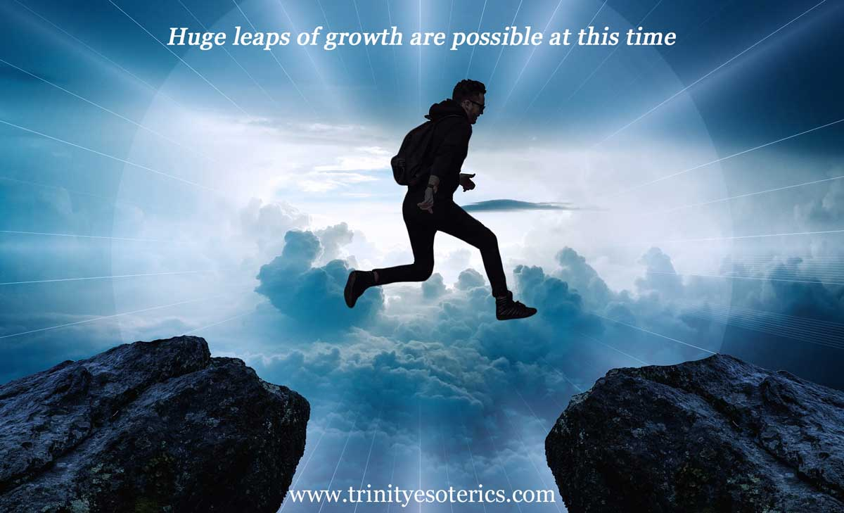 man jumping across chasm trinity esoterics