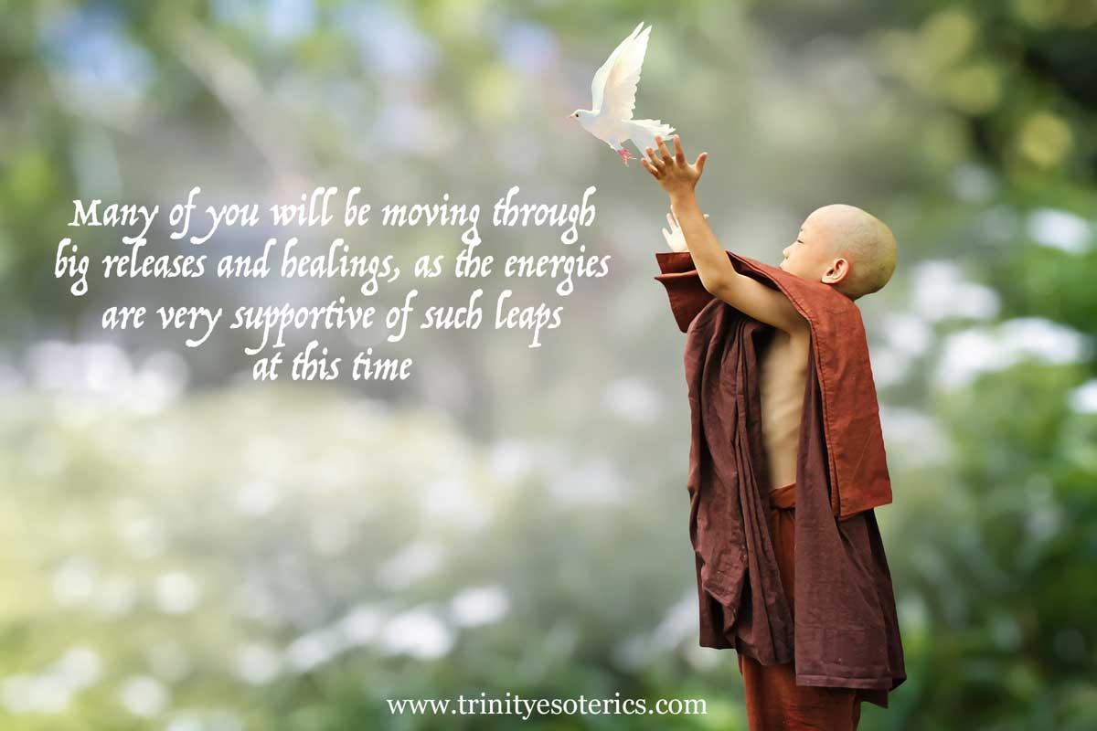 buddhist child releasing dove trinity esoterics