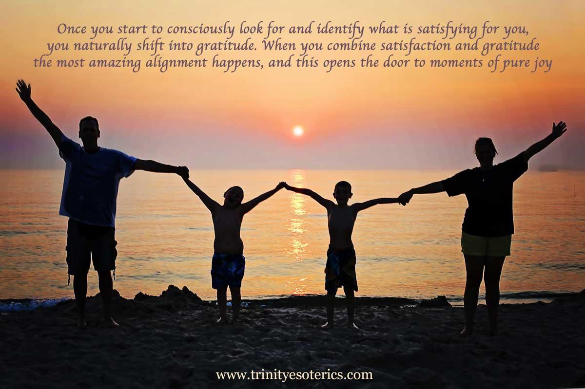 family enjoying sunset trinity esoterics