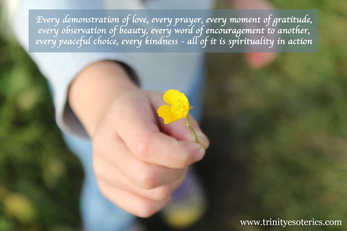 hand offering buttercup trinity esoterics